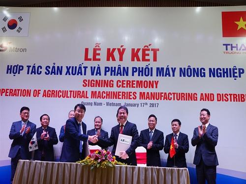 Thaco Trường Hải hợp tác Hàn Quốc sản xuất máy nông nghiệp